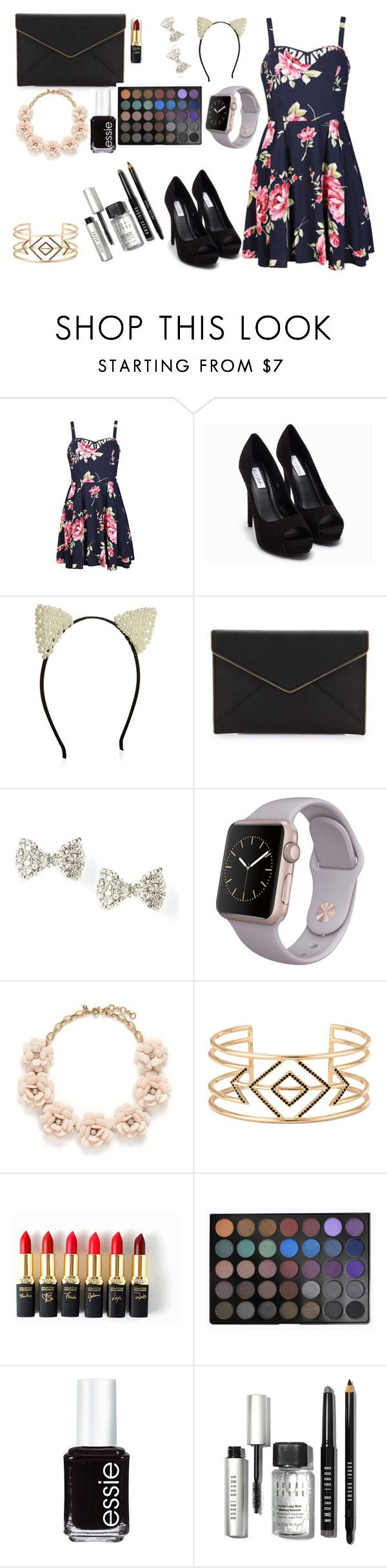"""""""Money Money"""" by penelopejohnson24 on Polyvore featuring Ally Fashion, Nly Shoes, Rebecca Minkoff, J.Crew, Stella & Dot, L'Oréal Paris, Morphe, Essie, Bobbi Brown Cosmetics and women's clothing"""