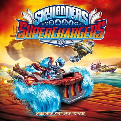 Official Skylanders Superchargers 2016 Calendar available from Publishers at https://www.danilo.com/Shop/Calendars/Gaming-Calendars