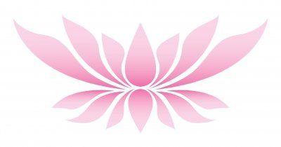 Illustration af en lotus-blomst