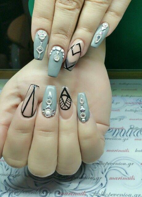 #nails #nailart #graymat
