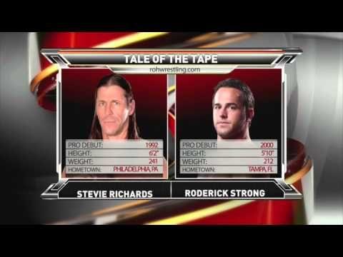 ROH TV Title Match Stevie Richards vs Roderick Strong - YouTube