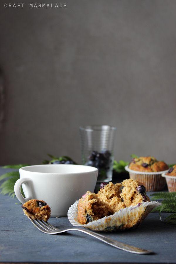 Muffin integrali soffici ai mirtilli