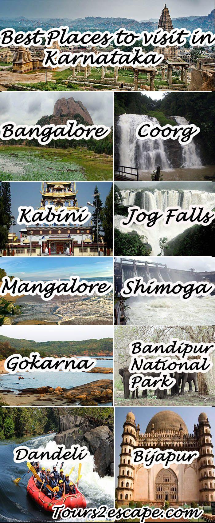 10 Best places in Karnataka  #banglore #coorg #kabini #jogfalls #mangalore #shimoga #gokarna #BandipurNationalPark #Dandeli #Bijapur  http://www.tours2escape.com/10-best-places-in-karnataka/