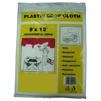 nippon paint weatherbond algae guard 20l plastic drop cloth 9ftx12ft