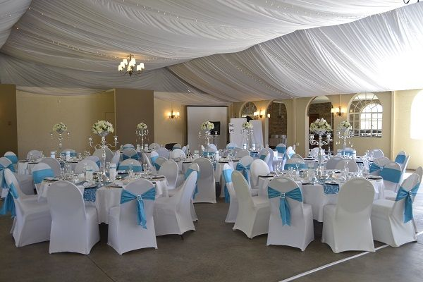 Fairy tale turquoise and white wedding decor