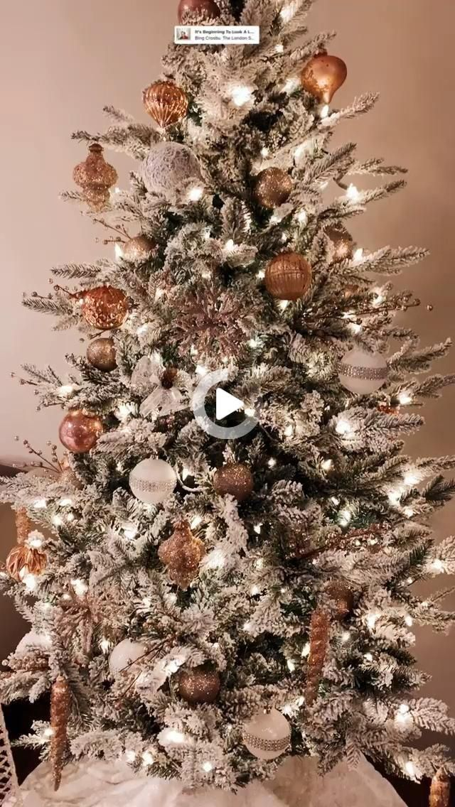 Flicked Christmas Tree Decorations 2021 Christmas Decorations In 2021 Flocked Christmas Trees Decorated Christmas Tree Decorating Themes Christmas Decorations