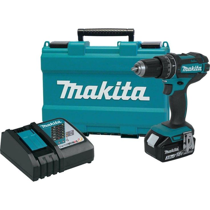 Makita 18-Volt LXT Lithium-Ion 1/2 in. Cordless Hammer Driver Drill Kit-XPH102 - The Home Depot