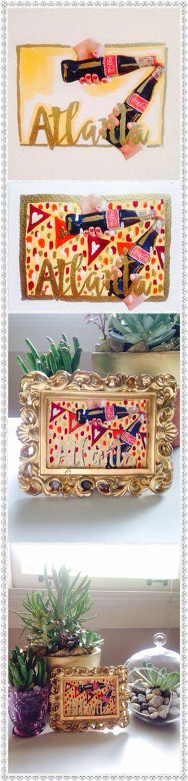 ATLANTA small paint #paint #mixtechnic #coke #art #process