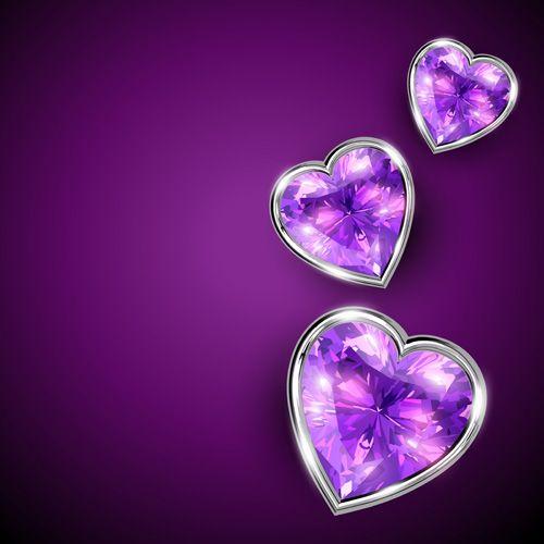 Purple Heart Background