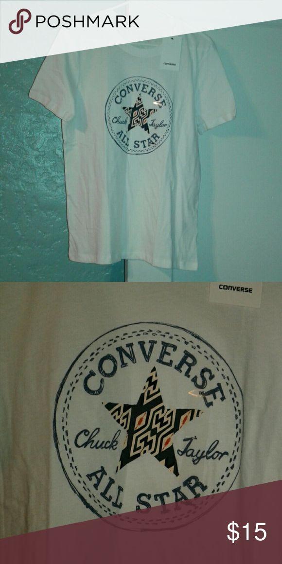 NWT converse ladies tee NWT size large white ladies converse tshirt. Converse Tops