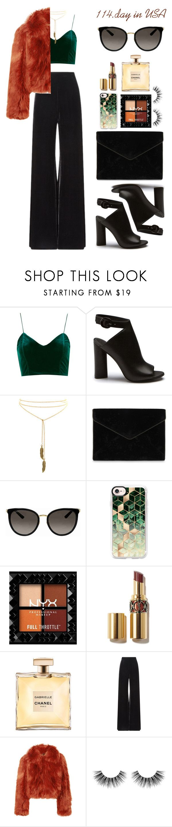"""""""114.day in USA"""" by elizcoco ❤ liked on Polyvore featuring Rebecca Minkoff, Gucci, Casetify, Roland Mouret, Maison Margiela and Velour Lashes"""
