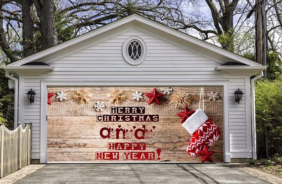 Outdoor decoration nativity scene garage door christmas outside house banner billboard scene decoration and banners