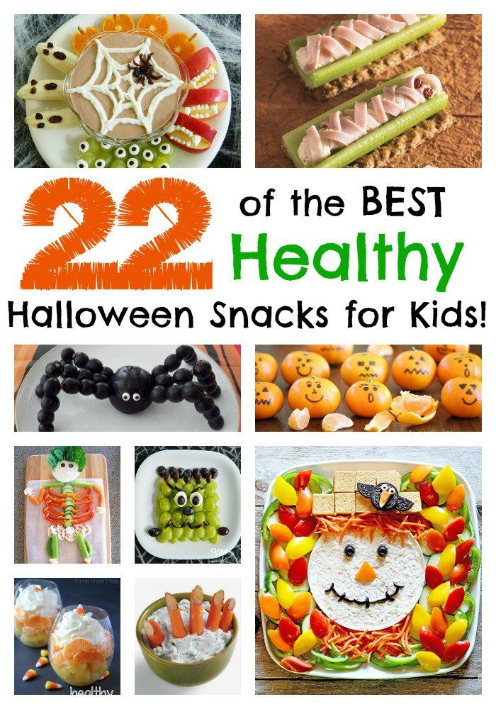 22 of the BEST Healthy Halloween Snacks for Kids!