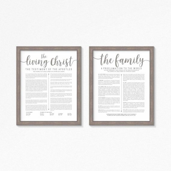 LDS The Living Christ and Family Proclamation Printable-Choose