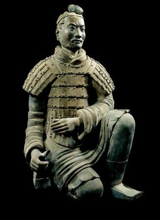 Terracotta warrior figure, China, Qin Dynasty