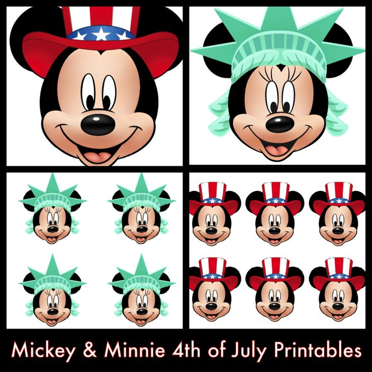 My Disney Life: Mickey and Minnie 4th of July Printables