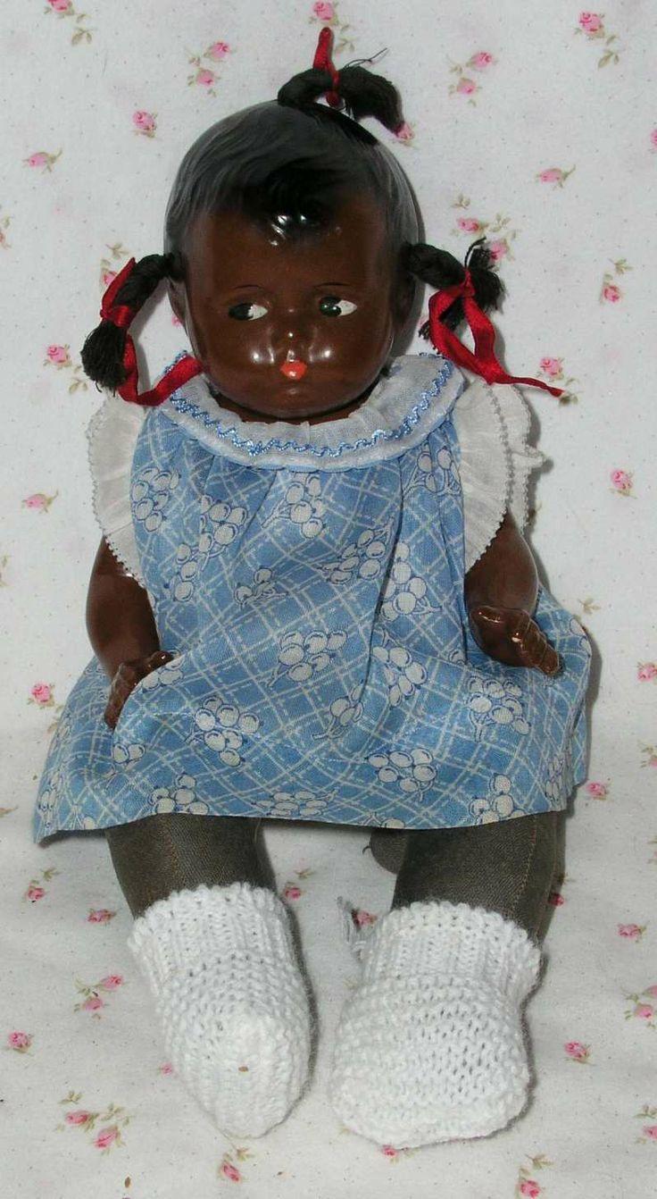 1930s Rare Effanbee 12 Black African American Grumpykins