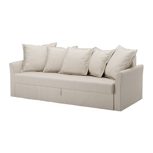 HOLMSUND Sofa bed IKEA Cover made of extra durable polyester with a dense texture. Storage space under the seat.