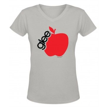 Apple Bite, V Neck T Shirts, Glee, Joy, Choir