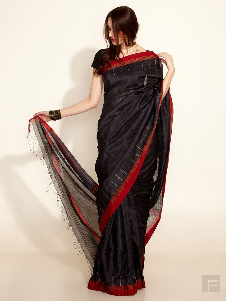 FabIndia // Silk- Cotton Multi- Colour Woven Sari