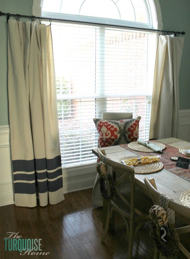 DIY Drop Cloth Curtains   From the Scoop pinned by www.cedarhillfarmhouse.com