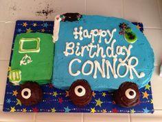 Garbage Truck Birthday Cake