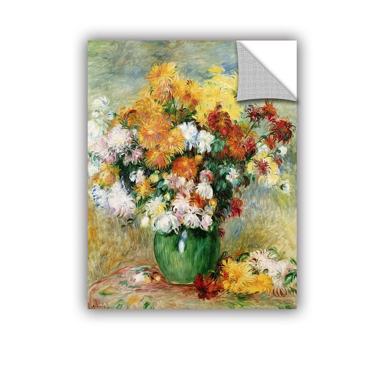 Pierre Renoir Bouquet Of Chrysanthemums, 1884 Removable Wall Mural