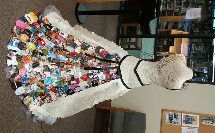 "Summer @ your library is here.  This dress was made using ""Girl Power"" book.  Books by women, books about famous women, and books with strong female characters."