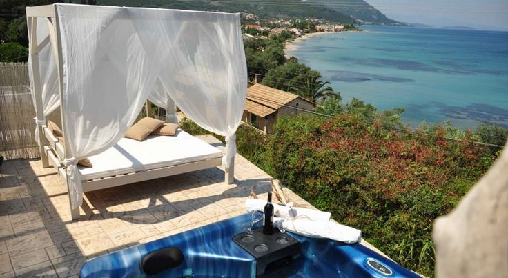 Palms and Spas Boutique Suites and Villas Mesongí The luxurious Palms and Spas is only a 5 minute walk away from Messonghi's Blue Flag beach. Corfu town is 18 km away. All accommodation comes with sea views.