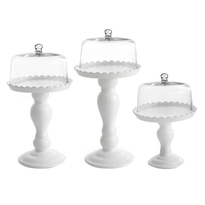 Product Small medium and large domed cake plateConstruction Material Glass and earthenwareColor Clear and white Dimensions Small H x Diameter Medium ...  sc 1 st  Pinterest & 68 best cake stands images on Pinterest   Dessert tables Kitchens ...