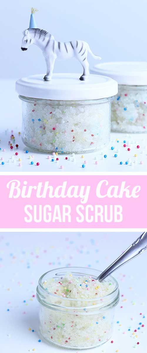 Last minute Geschenke selbstgemacht - DIY Geschenkidee   Peeling Kosmetik Rezept - Zuckerpeeling selbermachen   Birthday Cake Sugar Scrub with Sprinkles