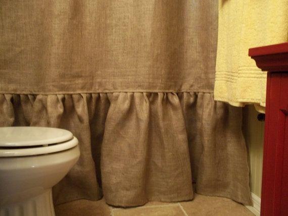 Curtains Ideas cream burlap curtains : 1000+ ideas about Burlap Shower Curtains on Pinterest | Burlap ...