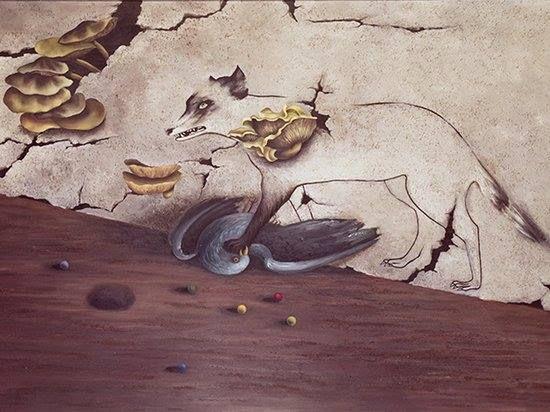 """""""At the Château Lacoste"""" (1946) by Toyen (Marie Čermínová)"""