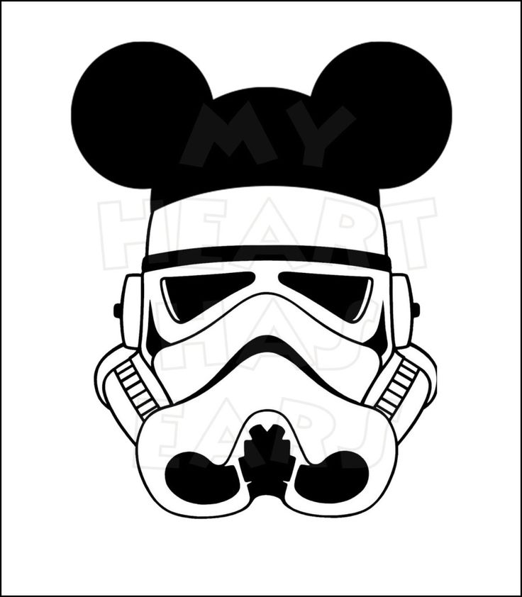Storm Trooper with mouse ears INSTANT DOWNLOAD digital ...