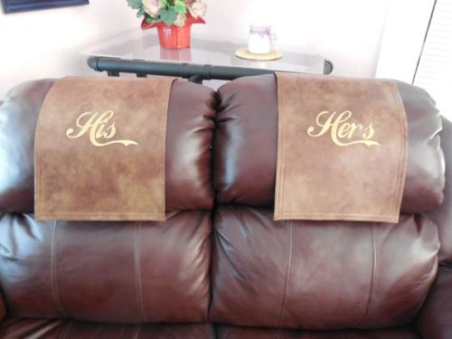 Recliner Cap Chair Hd Cover Headrest Pad Furniture His Her