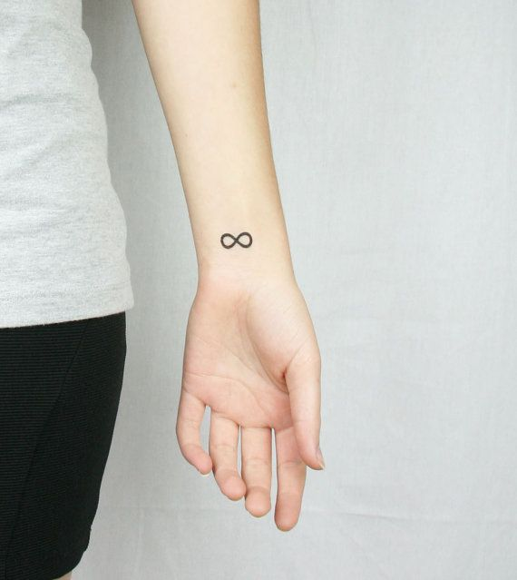 infinity temporary tattoo wrist neck ankle - mothers day on Etsy, $6.00