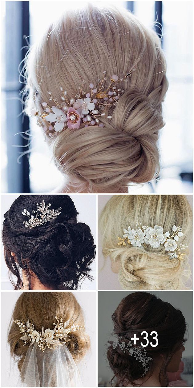 33 Bridal Hair Accessories Wich Look Perfect ❤️ Click on image and and choose the loveliest hairstyle from our collection of bridal hair accessories. #weddings #hairstyles #bridalhairstyle #bridalhairaccessoriestoinspirehairstyle