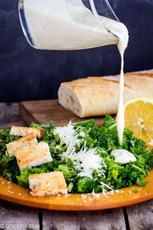KALE CAESAR SALAD GREEK YOGURT DRESSINGReally nice recipes.  Mein Blog: Alles rund um die Themen Genuss & Geschmack  Kochen Backen Braten Vorspeisen Hauptgerichte und Desserts