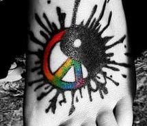 : Ass Ink, Tattoo Ideas, Awesome Tattoo, Tatouage Tattoo, Colors Tattoo, Colors Peace Signs Tattoo, Body Art, Nice Tattoo, Inspiration Ink