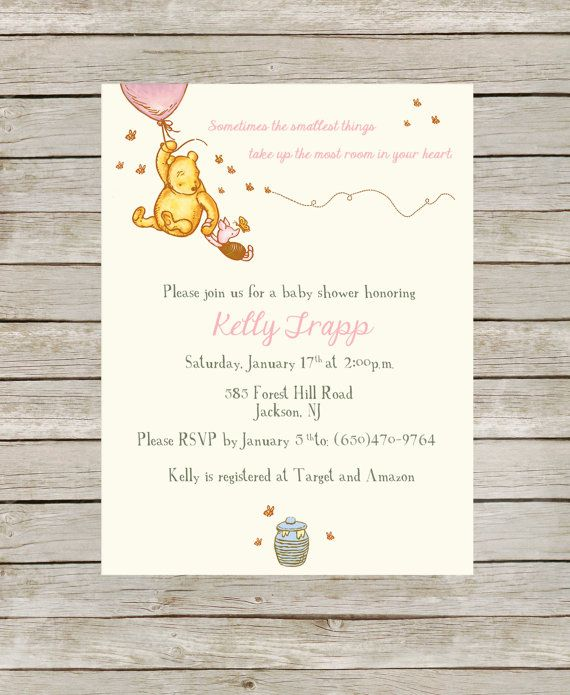 classic winnie the pooh themed baby shower pink by jdtradingco