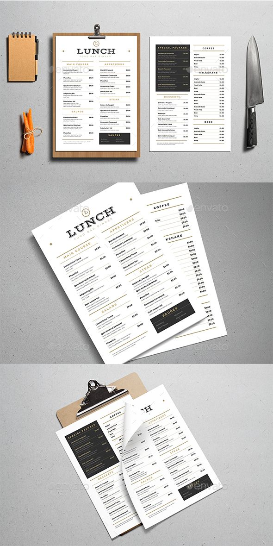 Best Restaurant Menu Template  Design Images On