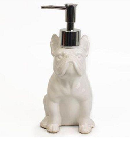 Deco Home Soap dispenser ceramic French by AnimalbyLaureTerrier