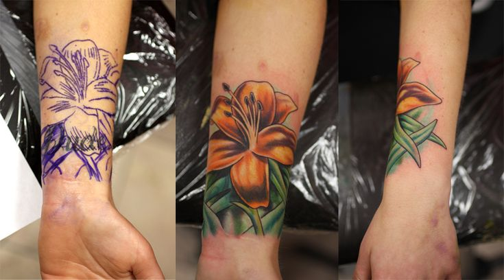 Best 25 tiger lily tattoos ideas on pinterest tiger for Wrist tattoo cover ups