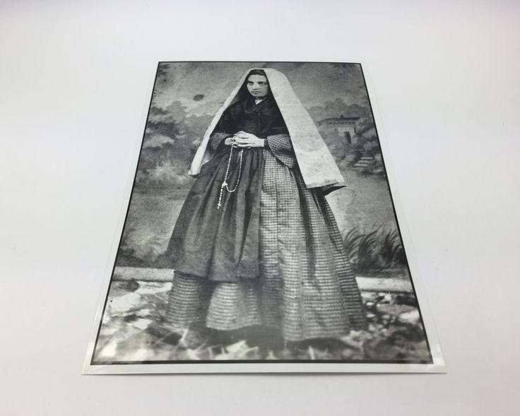 St Bernadette Photo from the 1860s an Authentic Large Photograph.