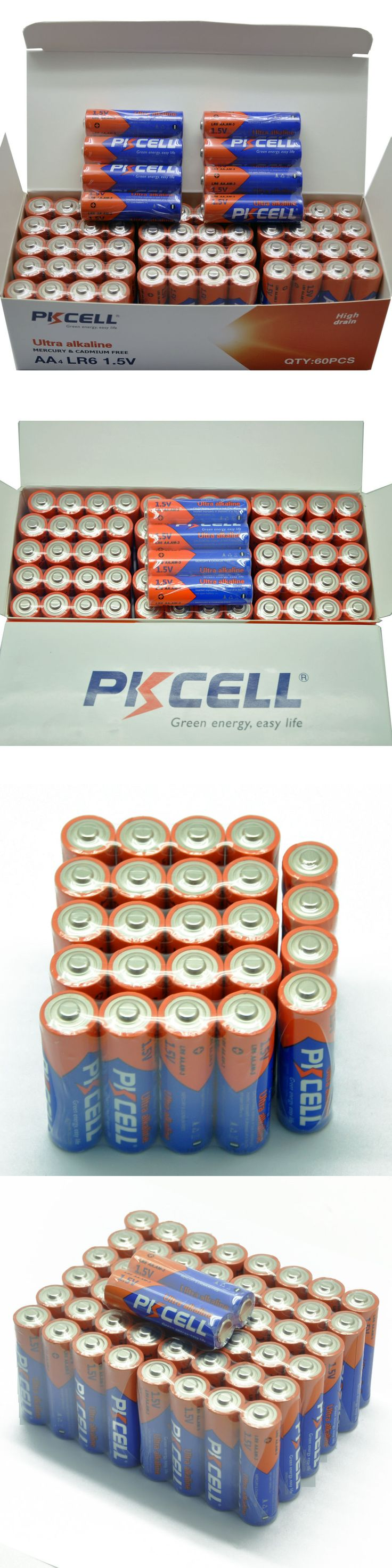 Batteries and Power Accessories: 200Pcs Aa Lr6 1.5V Alkaline Dry Batteries For Mp3 Toys Camera Remote Pkcell BUY IT NOW ONLY: $42.74