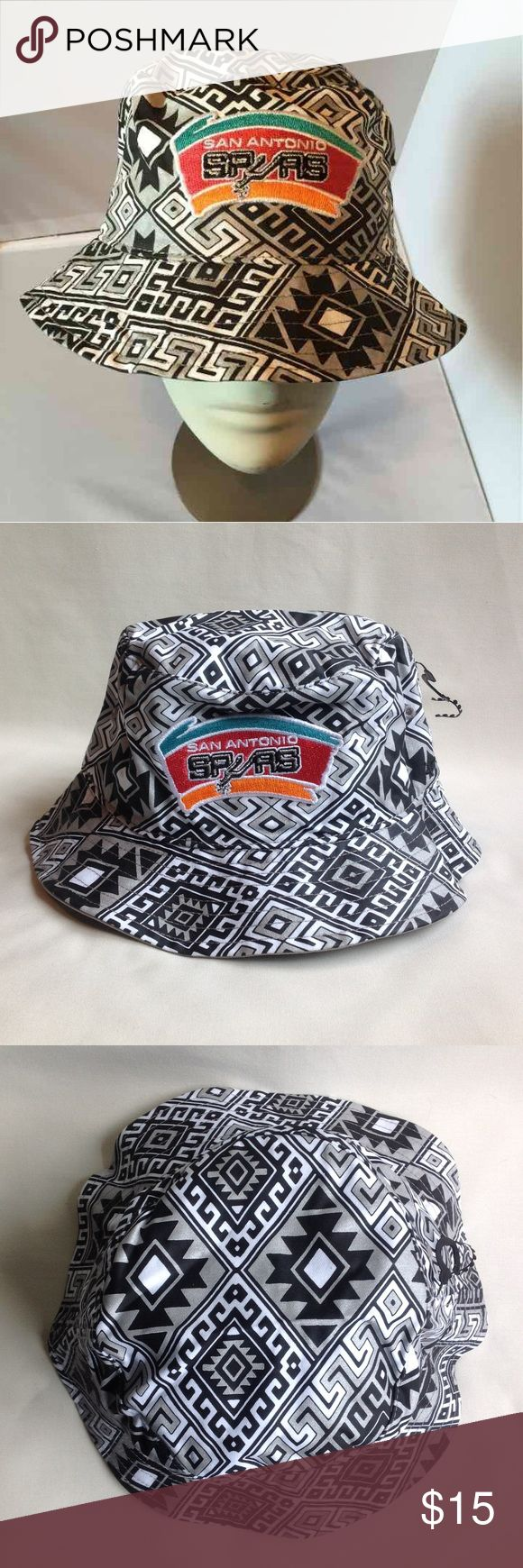 San Antonio Spurs bucket hat New w/ tag! Never worn!  NBA San Antonio Spurs bucket hat  Size L/XL 47 Brand Accessories Hats