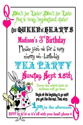83 best m - invites to the mad hatter tea party images on, Party invitations