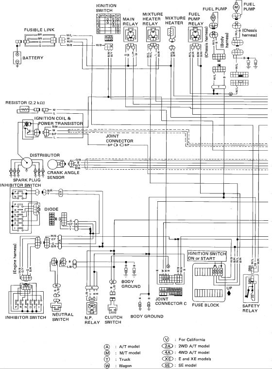wiring diagram for nissan 2005 hardbody  Google Search