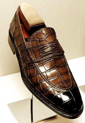 355cca6c2858e Luxury Alligator Slip-On Loafers for Men-Brown