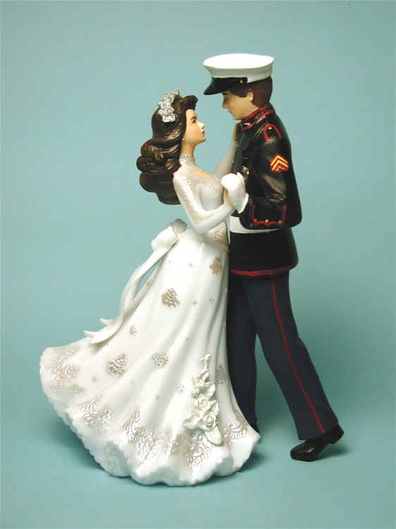 Navy Uniform Wedding Cake Topper